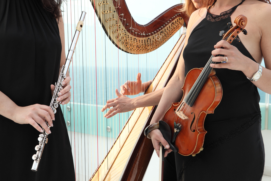 banensemble_violino_arpa_flauto